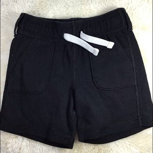 Black casual shorts with drawstring tie 2T